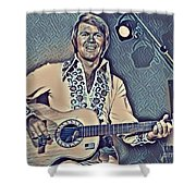 Glen Campbell Abstract Shower Curtain