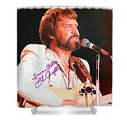 Glen Campbell Autographed Poster Shower Curtain