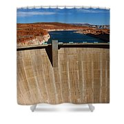 Glen Canyon Dam And Lake Powell Shower Curtain