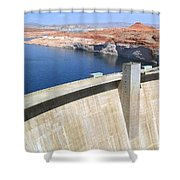Glen Canyon Dam Shower Curtain by Will Borden