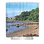 Glen Cove Rocky Beach Shower Curtain