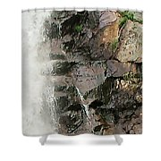 Glen Falls Abstract Shower Curtain