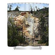 Glen Spring At Mammoth Hot Springs Upper Terraces Shower Curtain