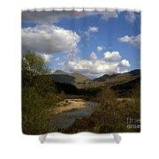 Glen Strontian And The River Strontian Sunart Western Highlands Scotland Shower Curtain