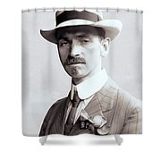 Glenn Curtiss - Aviation Pioneer And Father Of Aircraft Industry - 1909 Shower Curtain