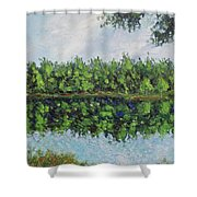 Glenoak Lake Shower Curtain