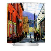Glenwood Alleyscape Shower Curtain