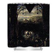 Gleyre Charles Gabriel The Queen Of Sheba Shower Curtain