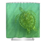 Gliding Green Shower Curtain