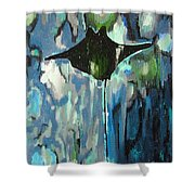 Gliding Stingray Shower Curtain