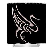 Gliding Swan Shower Curtain
