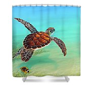 Gliding Through The Sea Shower Curtain