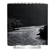 Glimmer On The Ganges Shower Curtain
