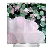 Glimmering Petals Shower Curtain