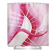 Glimpse Of An Angel Shower Curtain