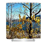 Glimpse Of Kalamalka Lake Shower Curtain