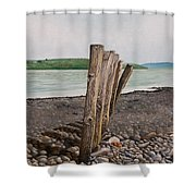 Glin Beach Breakers Shower Curtain