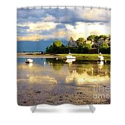Glistening Cove At Low Tide Shower Curtain
