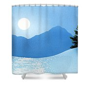 Glistening Snow Shower Curtain
