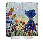Glitter Kitty Shower Curtain
