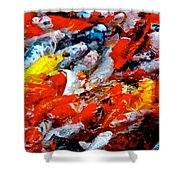 Glittering Of Koi Shower Curtain