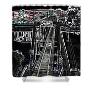 glo 247- Going To The Boardwalk Shower Curtain