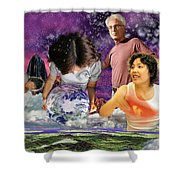 Global Dreaming Shower Curtain