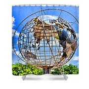 Globe At Columbus Circle Shower Curtain