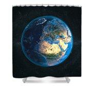 Globe Daynight Europe Shower Curtain