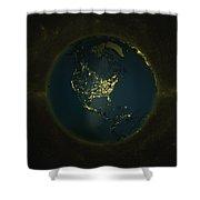 Globe Lights America Shower Curtain