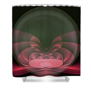 Globe Love Shower Curtain