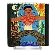 Gloria Anzaldua Shower Curtain