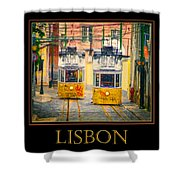 Gloria Funicular Lisbon Poster Shower Curtain