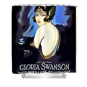 Gloria Swanson In Her Husband's Trademark 1922 Shower Curtain
