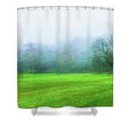 Glorious Greens Shower Curtain