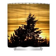 Glorious Guildford Sunset Shower Curtain
