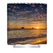 Glorious Playa Sunset Shower Curtain