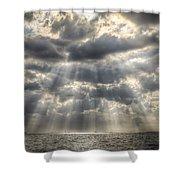 Glorious Rays Of The Heavens Shower Curtain