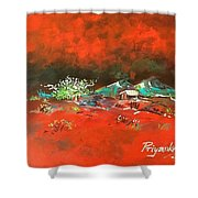 Glorious Red Shower Curtain