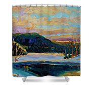 Glorious Winter Sunrise Shower Curtain