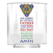 Glory Be Prayer Shower Curtain