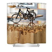 Glossy Coffee Table Shower Curtain