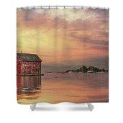 Gloucester Copper Paint Manufactory Shower Curtain