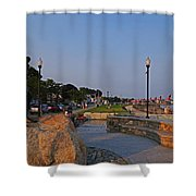 Gloucester Waterfront Gloucester Harbor Shower Curtain