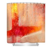 Glow 2 Abstract Art Shower Curtain