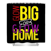 Glow Birthday Party Apparel Shower Curtain