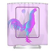 Glow Chicken Shower Curtain