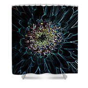 Glow Edge Flower Shower Curtain