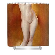 Glow Of Gold. Gleam Of Pearl Shower Curtain