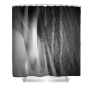 Glow Of The Flame B N W Shower Curtain